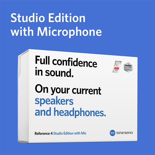 예약판매 / [Sonarworks] Reference 4  Studio Edition with mic (Box)